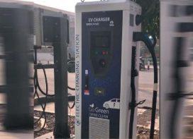 Charging station for e-buses at Manjri depot